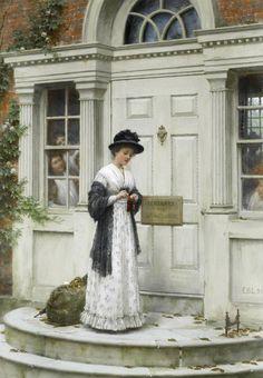 Edmund Blair Leighton (1853-1922) - The new governess
