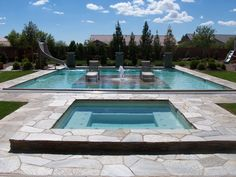 Old House Swimming Pool, This pool has real rock deck surround and real rock island.  Around the front and sides of the island is walkable, the whole back of the island is the average size pool here in Vegas and goes to 6 feet.  Also, when turned on, a lazy river brings you around the island in a circle., Pools Design