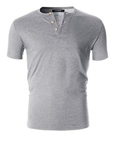2e45e06faec FLATSEVEN Men s Casual Short Sleeve Henley Shirt with Button Henley Shirts
