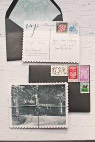 DIY Vintage Postcard RSVPs - Style Me Pretty