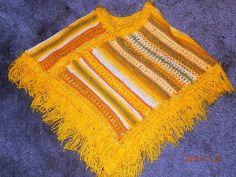 The sunshine poncho with yellow eyelash trim Eyelashes, Crochet Top, Sunshine, Yellow, Tops, Women, Fashion, Ponchos, Lashes