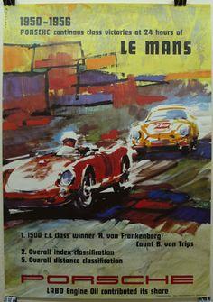 1950-1956 Porsche Le Mans Poster - Car Pictures