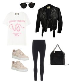"""""""Untitled #116"""" by alamontagna ❤ liked on Polyvore featuring Acne Studios, NIKE, Gucci, STELLA McCARTNEY and Christian Dior"""