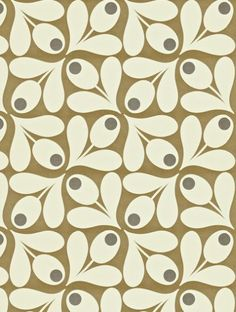 Acorn Spot, a feature wallpaper from Orla Kiely, featured in the Orla Kiely Wallpapers collection.