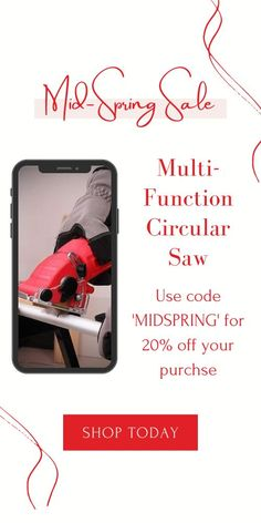 Multi-function Circular Saw is designed with a 400-watt motor inside a construction-grade chasse that's durable, incredibly light and fits easily in the palm of any size hand. This high powered hand saw cuts with over 3400 RPMs, making it the most versatile, durable, lightweight and portable saw ever made. Currently 60%OFF with Free Shipping!! Only on neulons.com Power Hand Saw, Dust Removal, Hex Key, Easy Jobs, High Speed Steel, Circular Saw, Do It Yourself Projects, Spring Sale, Laminate Flooring