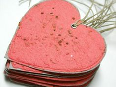These Green Seed Heart Tags would be a cute idea to give away for V-Day. Just plant them in the ground during the spring time!