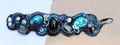 Ocean....bead embroidered bracelet by Esfera Jewelry