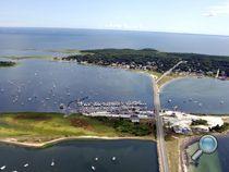 Overhead view of West Island, Fairhaven MA, Earl's Marina, South Coast MA