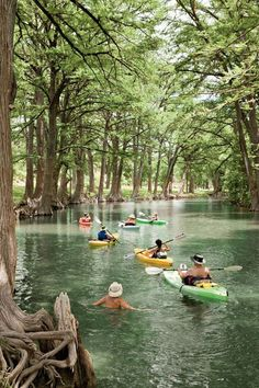 Summer fun in Texas! Medina River, Texas Hill Country~ kayaking- This looks fun. I have taken several vacations in Hill country but next time I will make a stop by Medina River. It looks so fun! Texas Hill Country, Voyage Au Texas, Viaje A Texas, Medina River, Oh The Places You'll Go, Places To Visit, Destination Voyage, Texas Travel, Camping In Texas