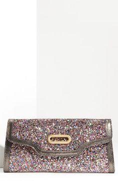 Jimmy Choo 'Tilsa' Glitter Fabric Clutch