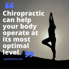 chiropractic can help your body operate at its most optimal level