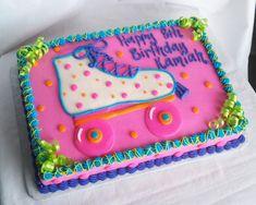 Rainbow roller skate party! #tbt #throwback #rollerskate #skateparty #cake #birthdaycake #rollerskatecake #buttercream #sprinklesandcream #memphis