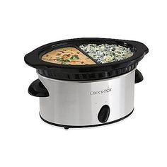 $20 crockpot from Bed Bath and Beyond that you can cook 2 separate things in! AWESOME. This is the easiest way to cook in a dorm room!