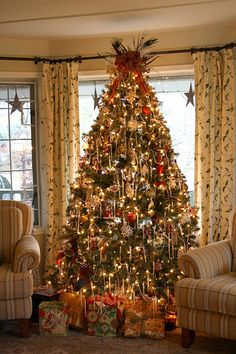 pretty tree curtains like this in your living room area nice
