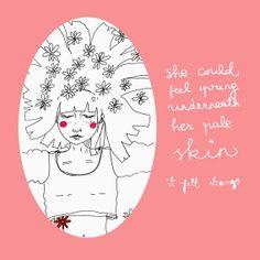 Early spring postcard | Gabrielė Ganžaitė Early Spring, Illustration Art, Felt, Fine Art, Feelings, Artist, Character, Beginning Of Spring, Felting