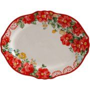 The Pioneer Woman Vintage Floral inch Serving Platter, Multicolor Pioneer Woman Dishes, Pioneer Woman Kitchen, Pioneer Women, Rustic Platters, Everyday Dishes, Best Budget, Kitchen On A Budget, Serving Platters, Vintage Floral