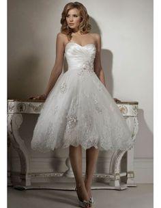 Patrones de vestidos de novia cortos