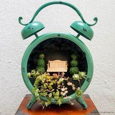Tick, Tock, It's a Fairy Garden in a Clock