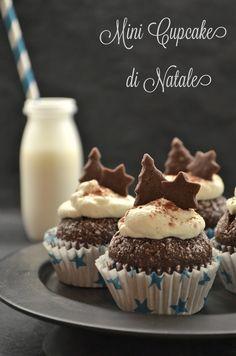 Mini Cupcake alla nocciola con frollini al cacao