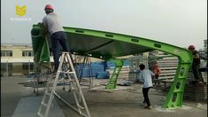 Green Tensile Fabric Membrane Structure - SUNSHIELD