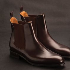 Our new Contemporary Chelsea boot is here! Goodyear welted on the ELTON last & finished with single leather soles. Available in Black calf & Expresso Antique calf. A staple your wardrobe shouldn't. Mens Shoes Boots, Shoe Boots, African Men Fashion, Mens Fashion, Shoes Editorial, Black Leather Ankle Boots, Leather Accessories, Loafers Men, Chelsea Boots