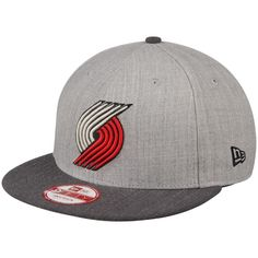 new products 4a26e b42b7 Men s Portland Trail Blazers New Era Heather Gray Action 2-Tone 9FIFTY  Adjustable Hat,