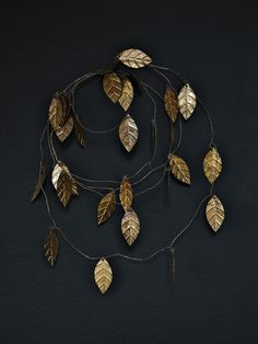 DIY gold leaf garland