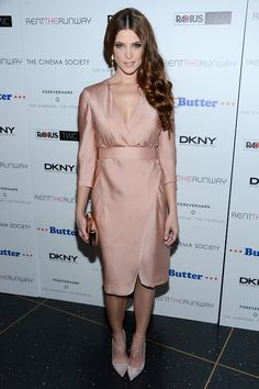 fresh as a daisy, Ashley Greene dons #donnakaran spring look 30 for her #Butter premiere in NYC tonight!
