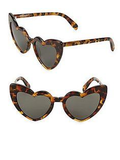 c06eb1a5ef82 Saint Laurent Loulou 54MM Heart Sunglasses Saint Laurant, Funky Glasses,  Heart Sunglasses, Sunglasses