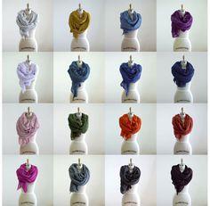 I love these scarfs! @Shaina Caudill-Naillieux