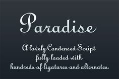 Paradise LogoType by Arys Design on Creative Market