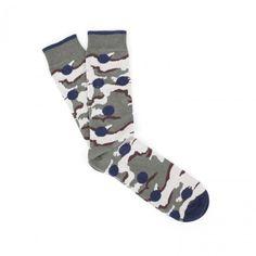 Democratique Socks x Mark McNairy Socks (Camo Dots) Camo, Dots, Camouflage, Stitches, Military Camouflage