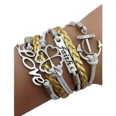 Gold Lucky Arm Party Bracelet