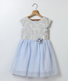 Look at this Blue Tulle Skirt Dress - Infant, Toddler & Girls on #zulily today!