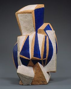 Henri Laurens: The Guitar, 1919 / Verso / New York, Metropolitan Museum Ceramic Pottery, Pottery Art, Ceramic Art, Contemporary Sculpture, Contemporary Art, Modern Art, Sculptures Céramiques, Art Sculpture, Georges Braque