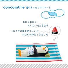 デコレ(decole)コンコンブル(concombre)夏のまったりマスコットイ/すやすや:ペンギン