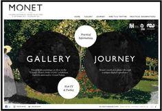 Monet Web Exhibit Interesting composition, Vogue-like. Gandalf, Magazine Design Inspiration, Graphic Design Inspiration, Claude Monet, Circle Graphic Design, Grand Palais Paris, Artist Monet, Web Design Trends, Design Web