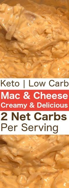 Low-carb Keto Diet approved Mac & Cheese! Only 2 net carbs per serving. If you've been on the lookout for a new Keto Mac & Cheese recipe, look no further!