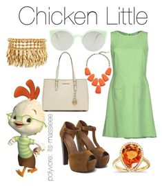 """""""Chicken Little"""" by its-massieee ❤ liked on Polyvore featuring Disney, RED Valentino, RetroSuperFuture, Kendra Scott, MICHAEL Michael Kors, Kobelli and Henri Bendel"""