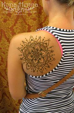 Organic Henna Products.  Professional Henna Studio. KonaHenna.com  #shoulder #mandala