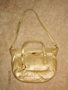 305dae701b NWT POLO RALPH LAUREN WOMENS SATCHEL HOBO TOTE SHOULDER HAND BAG PURSE gold
