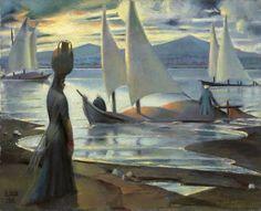 Mahmoud Said: Sunset On The Nile At Luxor (1945)