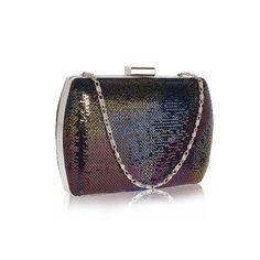 Poșetă de seară clutch cu paiete negre multicolore Coin Purse, Wallet, Purses, Bags, Fashion, Handbags, Handbags, Moda, Fashion Styles