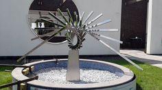 modern abstract sculpture - stainless steel