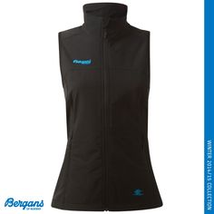 The Women's Veten Vest from Bergans of Norway is a warm and windproof vest in softshell with a high collar and extended back. Designed for hiking, ski touring, mountaineering, freeride, alpine, telemark, nordic classic, lifestyle and travel.