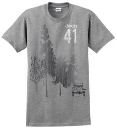 """All Things Jeep - Jeep 41 """"Grey Forest"""" Men's Tee-Shirt"""