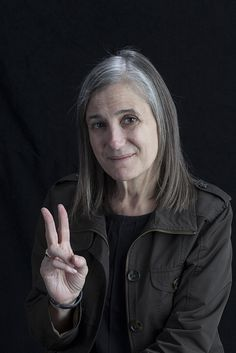 Amy Goodman (1957) is an American broadcast journalist, syndicated columnist, investigative reporter and author. Since 1996, Goodman has hosted Democracy Now!, an independent global news program broadcast daily on radio, television and the Internet.
