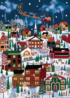 """""""The North Pole"""" ~ a 1000 piece Holiday Book Box jigsaw puzzle by Masterpieces Puzzle Co. Artist: Medana Gabbard"""