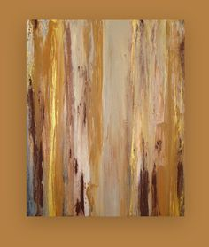"""Original Acrylic Abstract Art Painting on Gallery Canvas in Earthtones Titled: Family Tree 3 24x30x1.5"""" by Ora Birenbaum"""