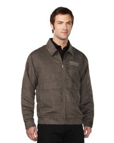 Suede Jacket mens with polyester printed lining   Style#: Tri mountain J2930 #Suede #Jacket